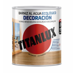 Barniz al agua Ecológico Decoración Titanlux (Mate)