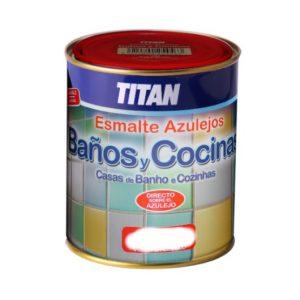 Titan Baños y Cocinas Esmalte Azulejos Blanco Satinado 750ml