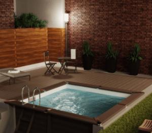 Piscina para Jardín Avantgarde Cuadrada – GRE