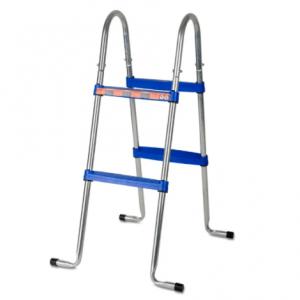 Escaleras para piscinas elevadas 2×2 Peldaños Acero Galvanizado – GRE