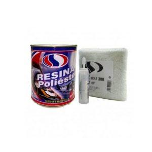 Kit Reparación Resina de Poliester – 1Kg Plainsur