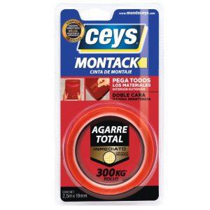 Cinta de Montaje Ceys Montack Express 2.5M x 19MM