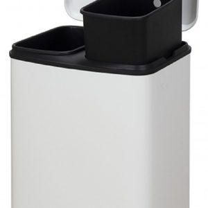 Cubo de Basura Reciclaje Metal 20L Cromado