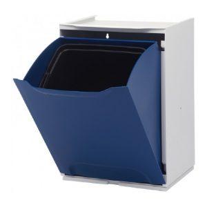 Cubo de Reciclaje Individual Apilable Azul