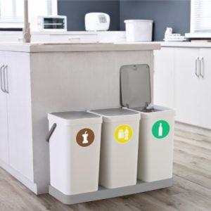 Cubo de Basura Blanco para Reciclar 18 L
