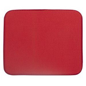 Tapete Escurridor de Microfibras Liso Rojo